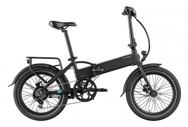 Legend Monza Vélo Electrique Pliant Smart eBike Roues de 20 Pouces, Freins Disque Hydraulique, Batterie 36V 14Ah Panasonic (504Wh), Noir Onyx