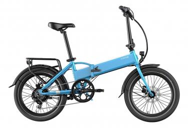 Legend Monza Vélo Electrique Pliant Smart eBike Roues de 20 Pouces, Freins Disque Hydraulique, Batterie 36V 8Ah (288Wh), Bleu Steel