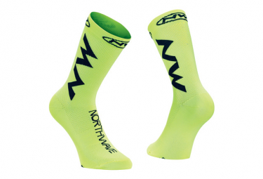 Medias Northwave Extreme Air Yellow Fluo Black 44 47