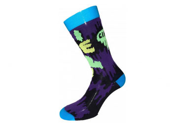 Cinelli Ana Benaroya Slime Socks Purple / Green