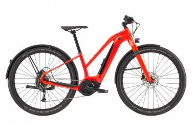 Vélo de Ville Électrique Femme Cannondale Canvas NEO 2 Shimano Acera 9V 500 Rouge 2020