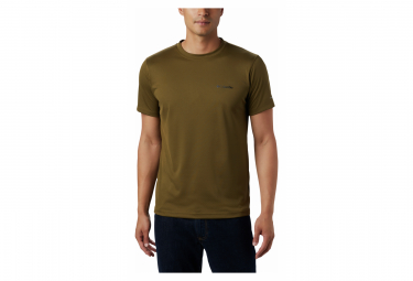 Maillot manches courtes Columbia Zero Rules Vert Blanc Homme