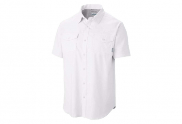 Shirt Short Sleeves Columbia Utilizer Ii White Men M