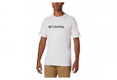 Tee Shirt Short Sleeves Columbia Csc Basic Logo White Men Xl