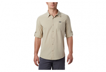Shirt Long Sleeves Columbia Triple Canyon Beige Men