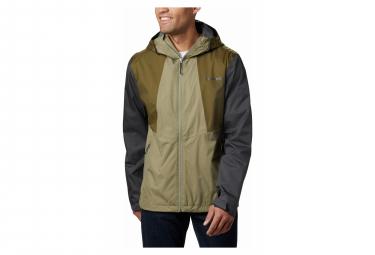 Waterproof Jacket Columbia Inner Limits Ii Green Khaki Men M