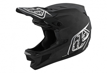 Casco Integrale Troy Lee Designs D4 Carbon Mips Stealth Nero / Argento