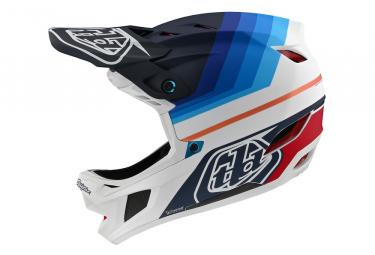 Casque Intégral Troy Lee Designs D4 Carbon Mirage Mips Bleu / Blanc