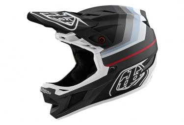 Integrierter Helm Troy Lee Designs D4 Composite Mirage Mips Schwarz / Silber