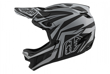 Casco Int Gral Troy Lee Designs D4 Composite Slash Mips Negro   Plateado M  57 58 Cm