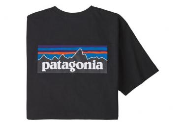 Camiseta De Manga Corta Patagonia P 6 Logo Responsibili Tee Negro Hombres Xs