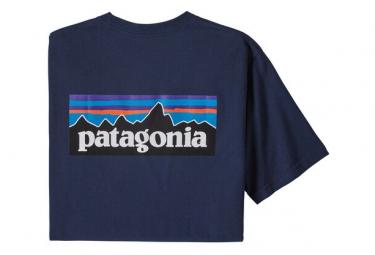 Camiseta De Manga Corta Patagonia P 6 Logo Responsibili Tee Blue Men L
