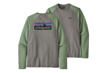 Sweat Patagonia P-6 Logo Lightweight Crew Grey Green Men
