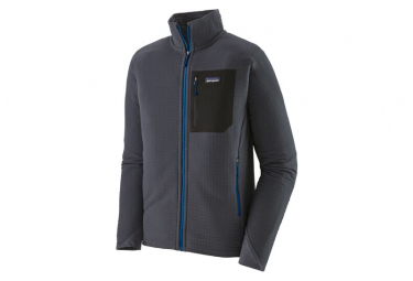 Thermal Jacket Zip Patagonia R2 TechFace Blue Men