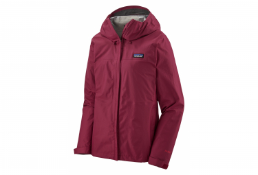Chaqueta Impermeable Patagonia Torrentshell 3L Rojo Mujer