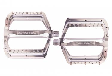 Paire de Pédales Plates Burgtec Penthouse MK5 Argent Rhodium