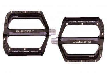 BURGTEC Penthouse Flat Pedals MK5 Burgtec Black Steel Axles