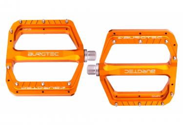 Paire de Pédales Plates Burgtec Penthouse MK5 Orange Iron Bro