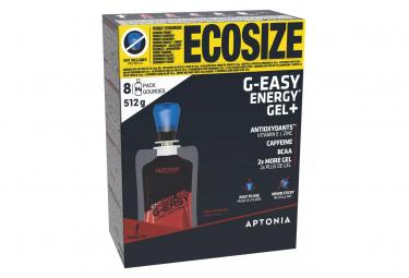 8 Gels énergétiques Aptonia Longues Distances G-Easy Cola 64g