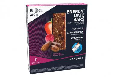 5 barritas energéticas Aptonia Energy Dates Frutos rojos 40g