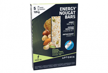 5 Barres énergétiques Aptonia Nougat 25g