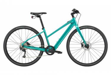 Bici Elettrica Città Cannondale Quick Neo SL 2 Remixte Shimano Altus 9V Turchese