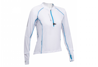 Maillot Manches Longues 1/2 Zip Raidlight Ultra Protect Blanc Femme