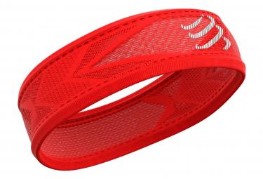 Compressport Thin Headband On   Off Rojo