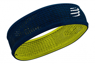 Bandeau Compressport Thin Headband On/Off Bleu Jaune