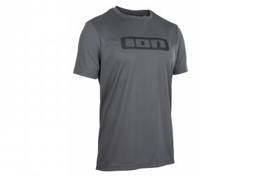 Jersey gris de manga corta con lavado de iones gris