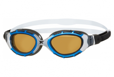 lunettes ZOGGS PREDATOR FLEX POLARISEES ULTRA REACTOR BLEU SIL