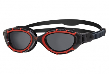 Lunettes de natation Zoggs Predator Flex Polarisées rouge noir fumé