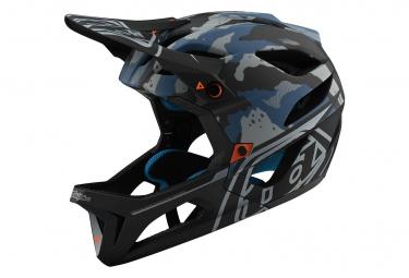 Int gral Helmet Troy Lee Designs Stage Mips Camo / Sky Blue