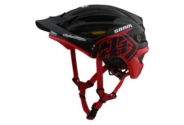 Casco Troy Lee Designs A2 Mips Decoy Sram Nero / Rosso