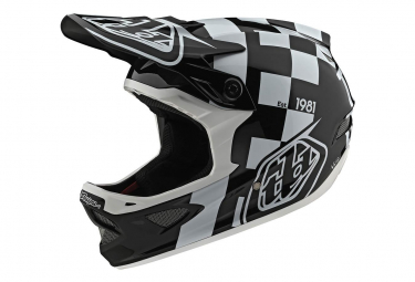 Casco interno Troy Lee Designs D3 Fiberlite Raceshop Bianco / Nero
