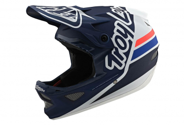 Casco interno Troy Lee Designs D3 Fiberlite Silhouette Dark Blue / White