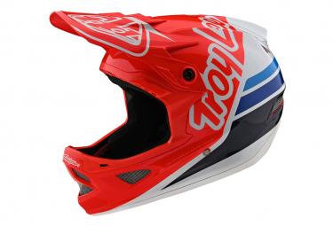 Int gral Helmet Troy Lee Designs D3 Fiberlite Silhouette Red / White