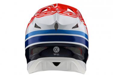 Casque Intégral Troy Lee Designs D3 Fiberlite Silhouette Rouge / Blanc