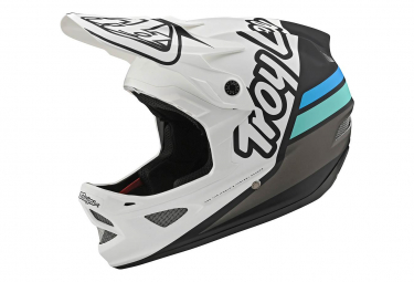 Int gral Helmet Troy Lee Designs D3 Fiberlite Silhouette White / Dark Blue