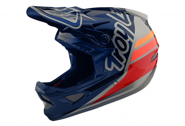 Casco interno Troy Lee Designs D3 Fiberlite Silhouette Blu scuro / Argento