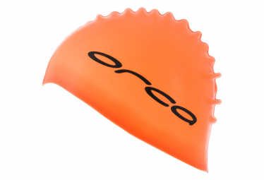 Bonnet de Bain Orca Silicone Swimcap orange