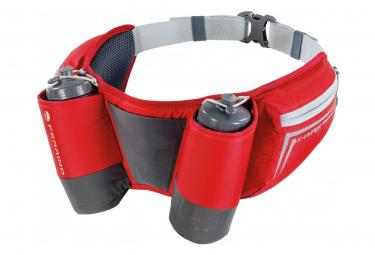 Ferrino X-Hyper Hydration Belt + 2 Unisex Red Bottles