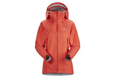 Waterproof Jacket Arcteryx Beta SL Hybrid GTX Orange Women