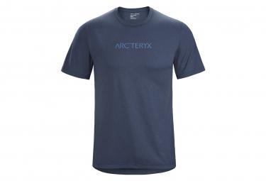 T-Shirt Arcteryx Remige Word Blue Men