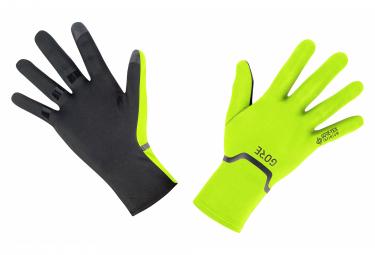 Gants Extensibles Gore Wear M GTX INFINIUM Jaune Fluo Noir