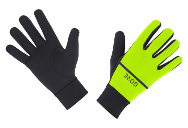 Pair of Gloves Gore Wear R3 Yellow Fluo Black