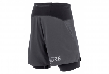 Short 2-en-1 Gore Wear R7 Noir