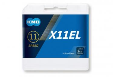 Chaîne KMC X11EL 118 Maillons Blacktech