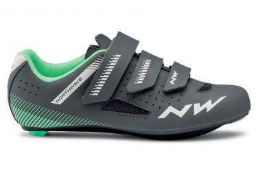 Northwave Core Grau / Grün Damen Road Schuhe