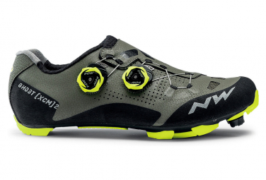 Chaussures VTT Northwave Ghost XCM 2 Forêt / Jaune Fluo